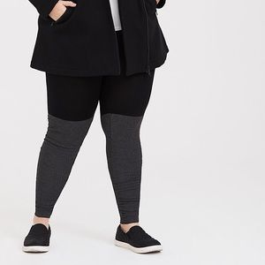 TORRID GREY JERSEY RUCHED SWEATER LEGGING
